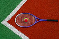 Tennis Ball & Racket-2 Royalty Free Stock Image