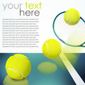 Tennis ball racket background Royalty Free Stock Photo