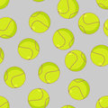 Tennis ball seamless pattern. Sports accessory ornament. Tennis Royalty Free Stock Photo