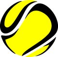 Tennis ball sport logo of Stock Images