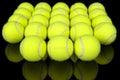 Tennis balls  on black Royalty Free Stock Photo