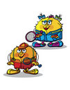 Tennis balls cartoon Stock Photos