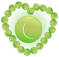 Tennis Balls Heart Royalty Free Stock Photo