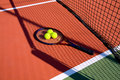 Tennis Balls & racket Stock Images