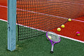 Tennis Balls & Racket-3 Royalty Free Stock Image