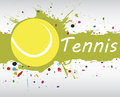 Tennis banner.Abstract green background with colorful splash