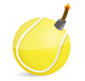 Tennis bomb illustration design over white design Stock Image