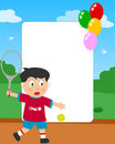 Tennis Boy Photo Frame Royalty Free Stock Photo