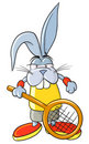 Tennis bunny Royalty Free Stock Photography