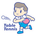 Tennis club mascot. Education and life Character Design series. Royalty Free Stock Photo