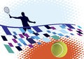 Tennis court abstract background Royalty Free Stock Images