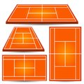 Tennis court background. Isometric playfield Royalty Free Stock Photo