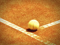 Tennis court with ball and line Royalty Free Stock Image