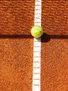 Tennis court with ball line and net shadow Stock Image