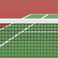 Tennis court detailed illustration Royalty Free Stock Photo