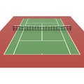 Tennis court detailed illustration Stock Image