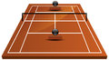 Tennis court field in clay illustration of Royalty Free Stock Images