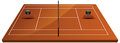 Tennis court field in clay illustration of Royalty Free Stock Photography