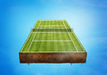 Tennis court a floating green sports concept Royalty Free Stock Photography