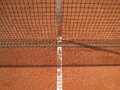 Tennis court line with net   Royalty Free Stock Photo