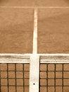 Tennis court with line and net old look Stock Image