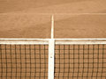 Tennis court with line and net old look Royalty Free Stock Photo