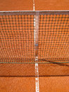 Tennis court line net outside Royalty Free Stock Images