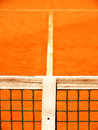Tennis court with line and net outside Royalty Free Stock Images