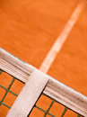 Tennis court with line and net outside Stock Images