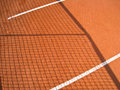 Tennis court with line and net shadow Stock Image