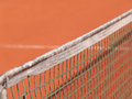 Tennis court with line and net shadow Royalty Free Stock Image