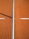 Tennis court line net shadow outside Stock Image
