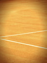 Tennis court line outsidei in summer season Royalty Free Stock Photography