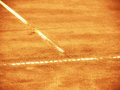 Tennis court line t outside in a Royalty Free Stock Images