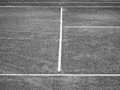 Tennis court lines in black and white Royalty Free Stock Images