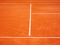 Tennis court lines the outside in the Royalty Free Stock Photo