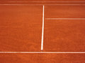 Tennis court lines outside in a Royalty Free Stock Photos