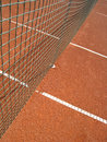 Tennis court net lines outside Royalty Free Stock Images