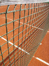 Tennis court with net outside in a Royalty Free Stock Image
