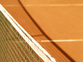Tennis court net and shadow Stock Images