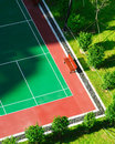 Tennis Court New Surface Outdoors Royalty Free Stock Photo