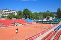 Tennis court resort portschach austria am worthersee Royalty Free Stock Photo