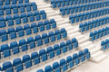 Tennis court seating rows of empty Royalty Free Stock Image