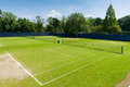 Tennis courts complex on a sunny day Stock Photos