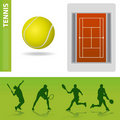 Tennis design elements Stock Photos