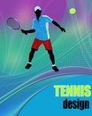 Tennis design poster Royalty Free Stock Images