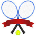 Tennis Emblem Stock Photography