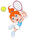 Tennis girl Stock Photography