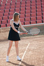 Tennis girl. Stock Photo