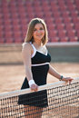 Tennis girl. Royalty Free Stock Photography
